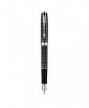 "Parker ""Sonnet Dark Grey Lacquer - Silver Trims"" ручка перьевая"