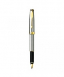 "Parker ""Sonnet Stainless Steel - Gold Trims"" ручка роллер"