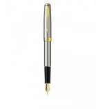 "Parker ""Sonnet Stainless Steel - Gold Trims"" ручка перьевая"