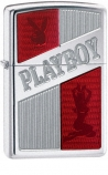 ZIPPO 21239 Playboy Ruby Red Armor High Polish Chrome -