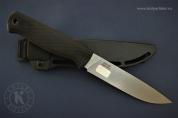 Нож «Otus» 014362 (Stonewash серый.; эласт.; без гард.; пласт.)