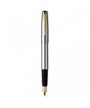 "Parker ""Frontier Stainless Steel - Gold Trims"" ручка перьевая"