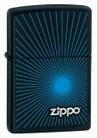 Зажигалка ZIPPO Starburst Blue Black Matte -