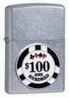 Зажигалка Zippo 24053 POKER CHIP EMBLEM SATIN CHROME -